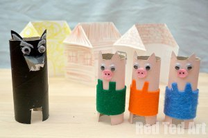 Three Little Pigs Toilet Paper Roll Crafts