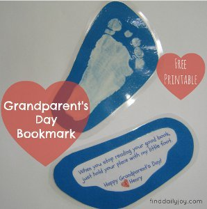Grandparents Day Printable Bookmarks