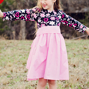 Pretty in Pink Girls' Dress Pattern