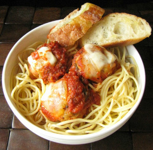 "Slow Cooker Chicken Parmesan ""Meatballs"""