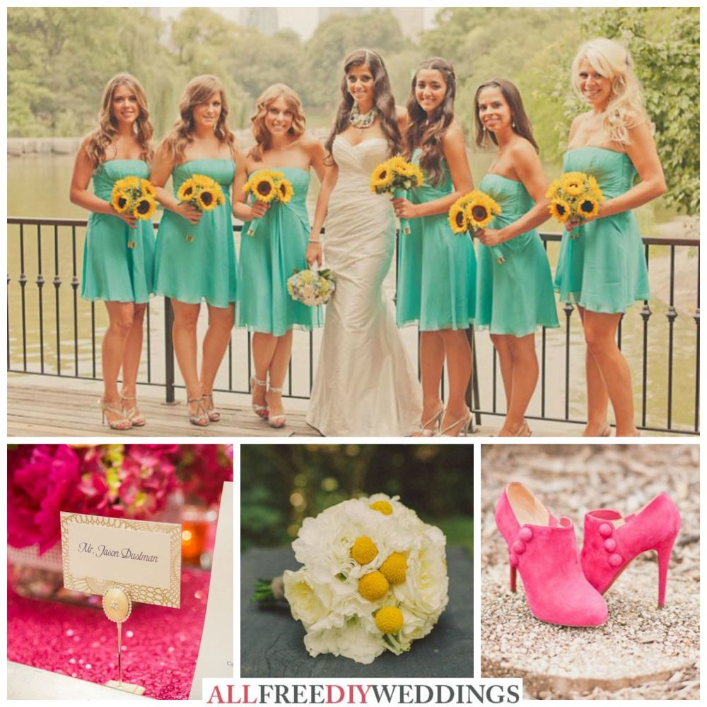 Wedding Color Schemes: Aqua, Yellow, and Hot Pink ...