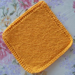 Quick Garter Stitch Dishcloth