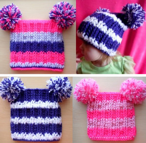 Simply Striped Pom Pom Beanie