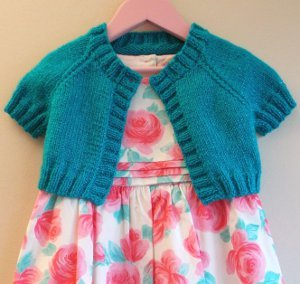 Girl's Turquoise Sparkle Cardi