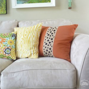 Polka Dot Burlap Pillow