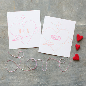 Paper Airplane Monogram Free Wedding Printables