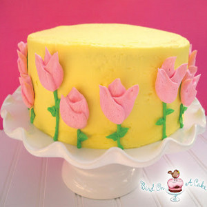 Truly Loved Tulips Cake