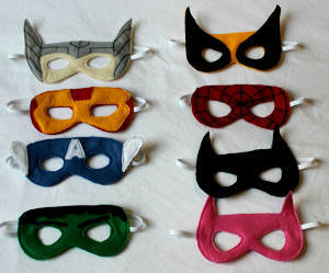 Fantastic Felt Superhero Masks Allfreekidscrafts Com