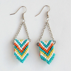DIY Chevron Friendship Earrings