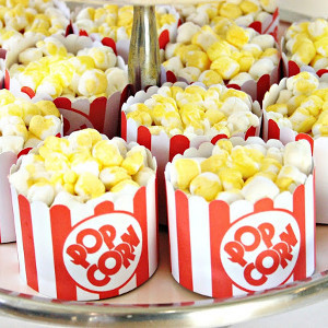 movie themed bridal shower popcorn cupcakes