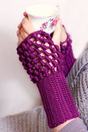 New England Crocheted Hand Warmers