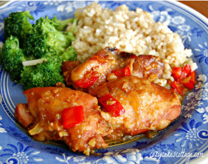 Slow Cooker Apricot Ginger Chicken for Four