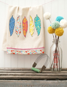 Fab Feathered DIY Dish Towels