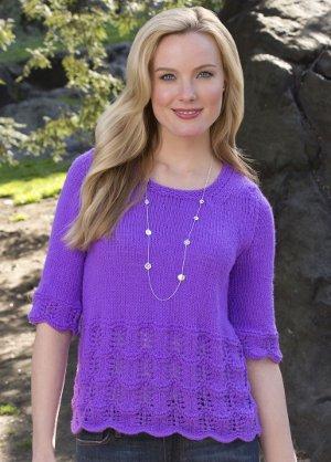 Scallops And Lace Sweater Allfreeknitting