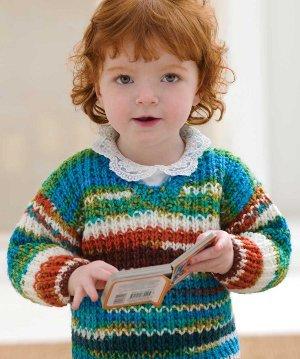 Two Skein Baby Sweater | AllFreeKnitting.com