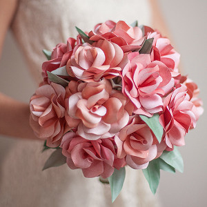 How to Make a Paper Rose Bouquet AllFreeDIYWeddingscom