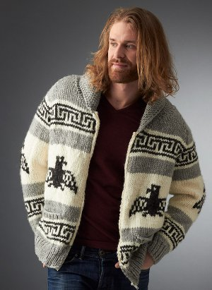 Men S Cowichan Cardigan Pattern Allfreeknitting Com
