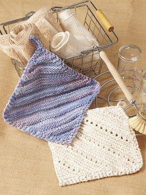 Simple Eyelet Dishcloth Allfreeknitting