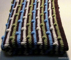 Puff Stitch Baby Blanket
