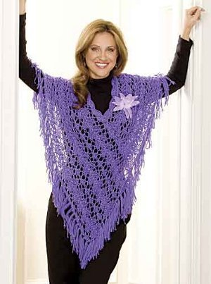 31 knit and crochet ponchos for Fave crafts knitting patterns
