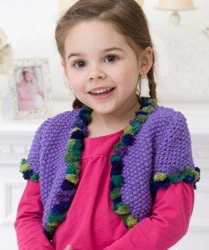 Girl's Seed Stitch Bolero   AllFreeKnitting.com