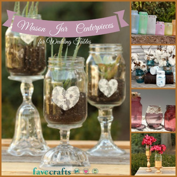 Blue Mason Jars Wedding Ideas: 9 Mason Jar Centerpieces For The Perfect Wedding Table