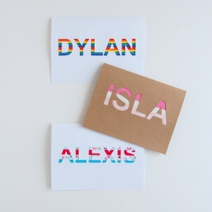 Pretty Personalized Name Cards