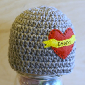 Daddy Tattoo Crochet Hat
