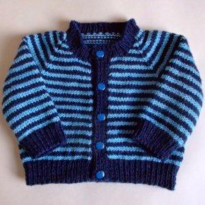 Simple Striped Baby Cardigan Allfreeknittingcom