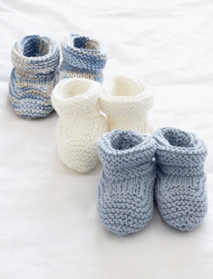Basic Knit Baby Booties