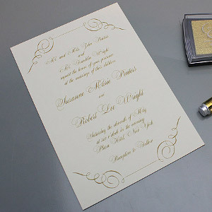 Baroque Wedding Invitation Template