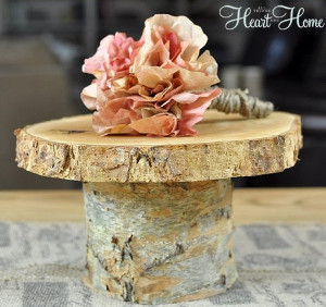 Enduring Rustic Wedding Cake Stand