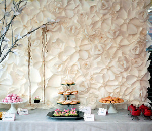 Cascading Paper Flower Backdrop