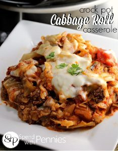 Old-Fashioned Cabbage Roll Casserole