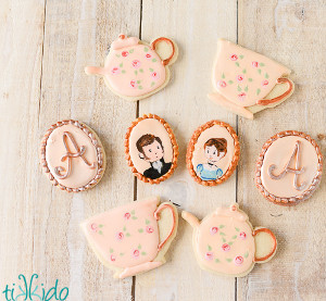 jane austens bridal tea party cookies
