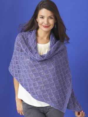 Diamond Lace Wrap Allfreeknitting
