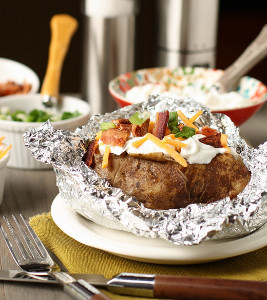 Genius Slow Cooker Baked Potatoes