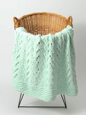 Soft Vines Baby Blanket Allfreeknitting
