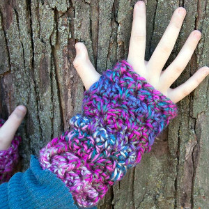 One Skein Wonder Fingerless Gloves