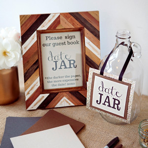 Date Night Wedding Guest Book