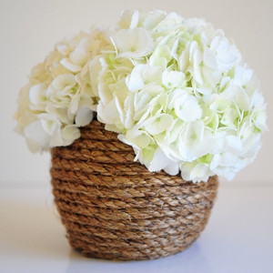 Roped Vase Shabby Chic Wedding Centerpiece