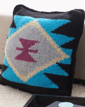 Aztec inspired knit pillow allfreeknitting tribal designs and southwestern motifs are all the rage and this trendy knit pillow pattern is no exception the aztec inspired knit pillow pattern is the dt1010fo
