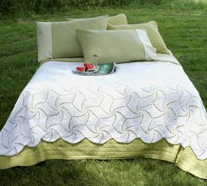 Free Pinwheel Crochet Baby Blanket Pattern : Pinwheel Crochet Bedspread Pattern ...