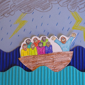 Jesus Calms The Storm Paper Craft Allfreekidscrafts Com