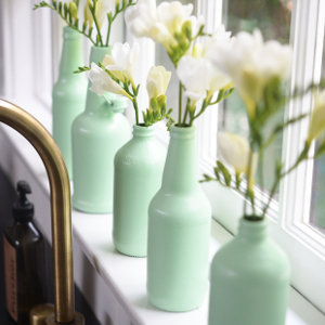 Color Popping Painted Bottle Vases