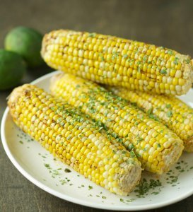 Corn on the Cob with Chili Lime Butter