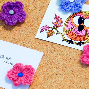 Crochet Flower Push Pins