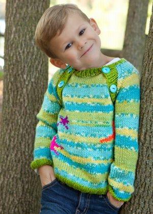 Kid S Starfish Sweater Allfreeknitting Com