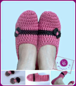 Cute as a Bow Crochet Slippers