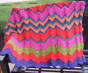 Nineties Neon Crochet Ripple Pattern